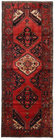 Hamadan Matto 107X284 Itämainen Käsinsolmittu Käytävämatto Tummanpunainen/Tummanruskea (Villa, Persia/Iran)