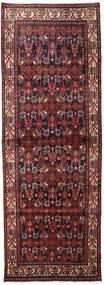 Hamadan Matto 106X298 Itämainen Käsinsolmittu Käytävämatto Tummanpunainen/Tummanruskea (Villa, Persia/Iran)