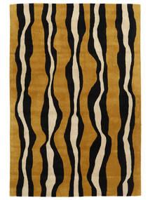 Tigre - Kulta/Beige Matto 160X230 Moderni Musta/Ruskea (Villa, Intia)