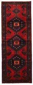 Hamadan Matto 106X286 Itämainen Käsinsolmittu Käytävämatto Tummanruskea/Tummanpunainen (Villa, Persia/Iran)