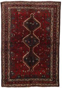 Ghashghai Matto 155X225 Itämainen Käsinsolmittu Tummanpunainen (Villa, Persia/Iran)