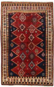 Ghashghai Matto 145X231 Itämainen Käsinsolmittu Tummanpunainen/Musta (Villa, Persia/Iran)