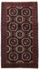 Beluch Matto 99X172 Itämainen Käsinsolmittu Musta/Tummanpunainen (Villa, Persia/Iran)