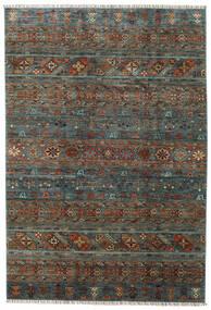 Shabargan Matto 203X297 Moderni Käsinsolmittu Tummanharmaa/Tummanruskea (Villa, Afganistan)