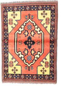 Kazak Matto 97X135 Itämainen Käsinsolmittu Tummanvioletti/Vaaleanpunainen (Villa, Pakistan)