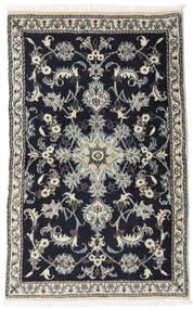 Nain Matto 86X133 Itämainen Käsinsolmittu Musta/Vaaleanharmaa (Villa, Persia/Iran)