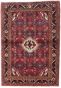 Hosseinabad Matto 108X156 Itämainen Käsinsolmittu Tummanpunainen/Ruoste (Villa, Persia/Iran)