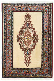 Ardebil Matto 86X128 Itämainen Käsinsolmittu Beige/Tummanruskea (Villa, Persia/Iran)