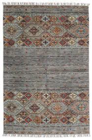 Shabargan Matto 116X180 Moderni Käsinsolmittu Tummanharmaa/Vaaleanharmaa (Villa, Afganistan)
