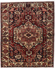 Bakhtiar Matto 170X207 Itämainen Käsinsolmittu Tummanpunainen/Tummanruskea (Villa, Persia/Iran)