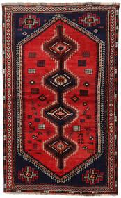 Shiraz Matto 150X240 Itämainen Käsinsolmittu Tummanruskea/Ruoste (Villa, Persia/Iran)