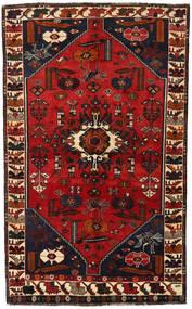 Shiraz Matto 147X239 Itämainen Käsinsolmittu Musta/Tummanpunainen/Ruoste (Villa, Persia/Iran)