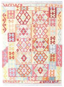 Kelim Afghan Old Style Matto 124X172 Itämainen Käsinkudottu Vaaleanpunainen/Vaaleanharmaa (Villa, Afganistan)