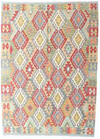 Kelim Afghan Old Style Matto 146X198 Itämainen Käsinkudottu Vaaleanharmaa/Beige (Villa, Afganistan)