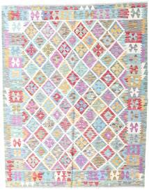 Kelim Afghan Old Style Matto 154X193 Itämainen Käsinkudottu Beige/Vaaleansininen (Villa, Afganistan)