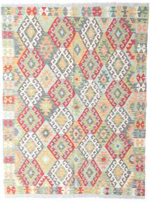 Kelim Afghan Old Style Matto 142X190 Itämainen Käsinkudottu Vaaleanharmaa/Beige (Villa, Afganistan)