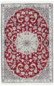 Nain 9La Matto 92X140 Itämainen Käsinsolmittu Vaaleanharmaa/Tummanpunainen (Villa/Silkki, Persia/Iran)