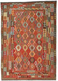 Kelim Afghan Old Style Matto 246X349 Itämainen Käsinkudottu Ruoste/Tummanharmaa (Villa, Afganistan)