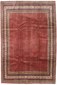 Sarough Mir Matto 209X314 Itämainen Käsinsolmittu Tummanpunainen/Tummanruskea (Villa, Persia/Iran)