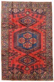 Wiss Matto 208X319 Itämainen Käsinsolmittu Tummanpunainen/Tummanvioletti (Villa, Persia/Iran)