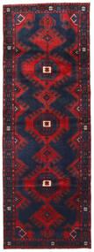 Hamadan Matto 107X300 Itämainen Käsinsolmittu Käytävämatto Musta/Tummanpunainen (Villa, Persia/Iran)