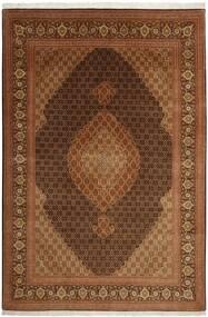 Tabriz 50 Raj Matto 204X301 Itämainen Käsinkudottu Ruskea (Villa/Silkki, Persia/Iran)
