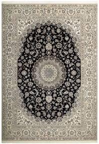 Nain 6La Matto 255X358 Itämainen Käsinkudottu Vaaleanharmaa/Tummanharmaa Isot (Villa/Silkki, Persia/Iran)