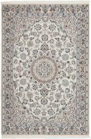 Nain 9La Matto 114X173 Itämainen Käsinkudottu Vaaleanharmaa/Tummanharmaa (Villa/Silkki, Persia/Iran)