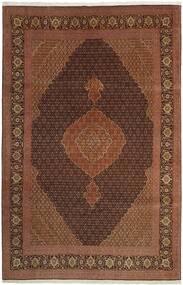 Tabriz 50 Raj Matto 202X309 Itämainen Käsinkudottu Ruskea/Tummanpunainen/Tummanruskea (Villa/Silkki, Persia/Iran)