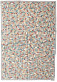 Kelim Afghan Old Style Matto 168X242 Itämainen Käsinkudottu Vaaleanharmaa/Tummanharmaa (Villa, Afganistan)