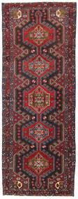 Hamadan Matto 107X283 Itämainen Käsinsolmittu Käytävämatto Tummanpunainen/Musta (Villa, Persia/Iran)