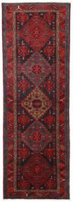 Hamadan Matto 104X309 Itämainen Käsinsolmittu Käytävämatto Tummanpunainen/Musta (Villa, Persia/Iran)