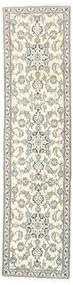 Nain Matto 77X304 Itämainen Käsinsolmittu Käytävämatto Vaaleanharmaa/Beige (Villa, Persia/Iran)