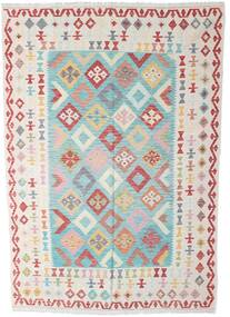 Kelim Afghan Old Style Matto 196X285 Itämainen Käsinkudottu Beige/Tummanbeige (Villa, Afganistan)