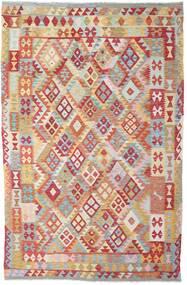Kelim Afghan Old Style Matto 194X304 Itämainen Käsinkudottu Ruoste/Vaaleanharmaa (Villa, Afganistan)