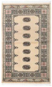 Pakistan Bokhara 2Ply Matto 90X147 Itämainen Käsinsolmittu Beige/Tummanharmaa/Vaaleanharmaa (Villa, Pakistan)