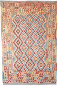 Kelim Afghan Old Style Matto 202X308 Itämainen Käsinkudottu Ruoste/Tummanbeige (Villa, Afganistan)