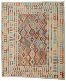 Kelim Afghan Old Style Matto 254X301 Itämainen Käsinkudottu Vaaleanharmaa/Tummanpunainen Isot (Villa, Afganistan)
