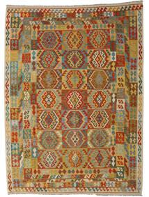 Kelim Afghan Old Style Matto 248X349 Itämainen Käsinkudottu Vaaleanruskea/Ruskea (Villa, Afganistan)