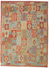 Kelim Afghan Old Style Matto 252X350 Itämainen Käsinkudottu Vaaleanharmaa/Tummanbeige Isot (Villa, Afganistan)