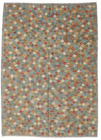 Kelim Afghan Old Style Matto 175X242 Itämainen Käsinkudottu Tummanharmaa/Vaaleanharmaa (Villa, Afganistan)