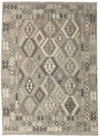 Kelim Afghan Old Style Matto 180X241 Itämainen Käsinkudottu Vaaleanharmaa/Tummanharmaa (Villa, Afganistan)