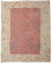 Kelim Afghan Old Style Matto 330X403 Itämainen Käsinkudottu Vaaleanharmaa/Ruoste Isot (Villa, Afganistan)