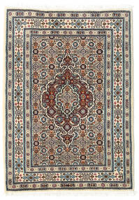 Moud Matto 60X85 Itämainen Käsinsolmittu Beige/Vaaleanharmaa/Tummanruskea (Villa/Silkki, Persia/Iran)
