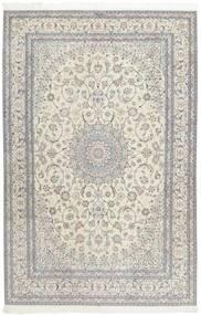 Nain 6La Matto 207X317 Itämainen Käsinsolmittu Vaaleanharmaa/Tummanbeige (Villa/Silkki, Persia/Iran)