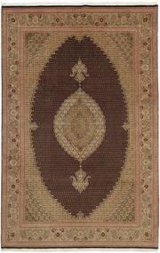 Tabriz 50 Raj Matto 202X311 Itämainen Käsinkudottu Ruskea/Vaaleanruskea (Villa/Silkki, Persia/Iran)
