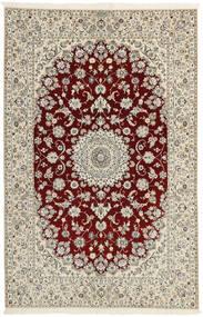 Nain 6La Matto 156X241 Itämainen Käsinkudottu Vaaleanharmaa/Beige (Villa/Silkki, Persia/Iran)