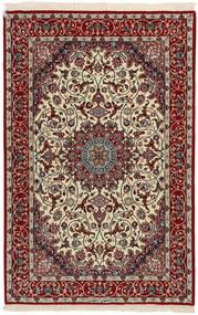 Isfahan Silkkiloimi Matto 110X168 Itämainen Käsinkudottu Tummanpunainen/Vaaleanharmaa (Villa/Silkki, Persia/Iran)