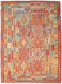 Kelim Afghan Old Style Matto 257X348 Itämainen Käsinkudottu Punainen/Vaaleanruskea Isot (Villa, Afganistan)