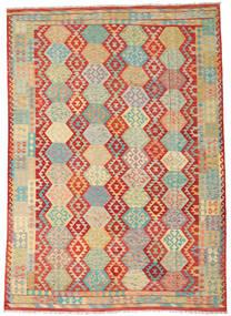 Kelim Afghan Old Style Matto 262X360 Itämainen Käsinkudottu Ruskea/Ruoste Isot (Villa, Afganistan)